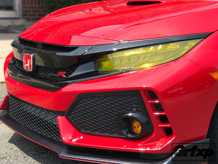 Headlight Overlays for 10thGen Honda Civic Hatchback Type-R Si with LED (2017+)