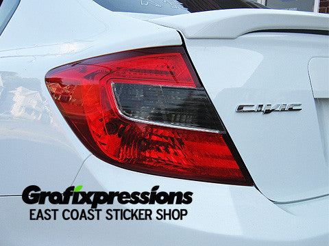 Taillight Overlays for 9thGen Honda Civic Sedan (2012 only)