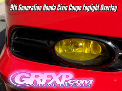 Fog Light Overlays for Honda Civic Coupe & Sedan (2012 only)