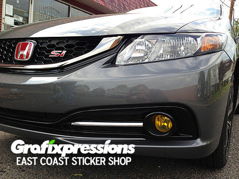 Fog Light Overlays for 9thGen Honda Civic Si Sedan (2013 – 2015)