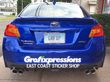 Taillight Overlays for Subaru WRX/STi (2015 – 2017)