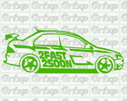 Paul Walker, 2FAST 2SOON Evo Sticker