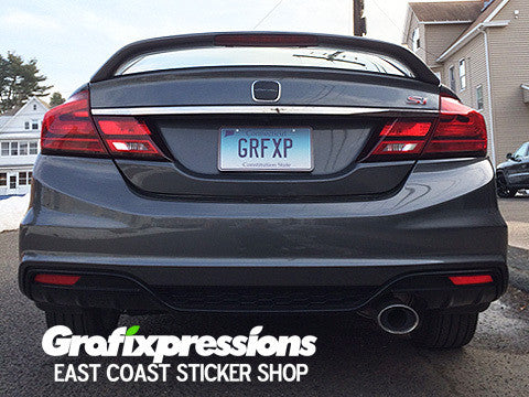 Euro Style Taillight Overlays For 9thgen Civic Sedan 2013 2015