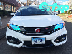Headlight Overlays for 9thGen Honda Civic Coupe (2014-2015)