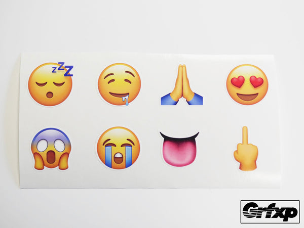 Emoji 8-Pack of Printed Stickers