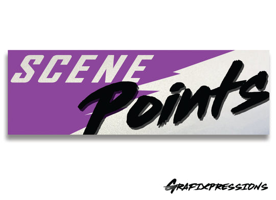 Scene Points Printed Sticker