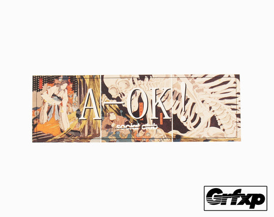 A-OK Social Club Bones Printed Sticker