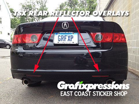 Rear Reflector Overlays for Acura TSX (2006-2008)