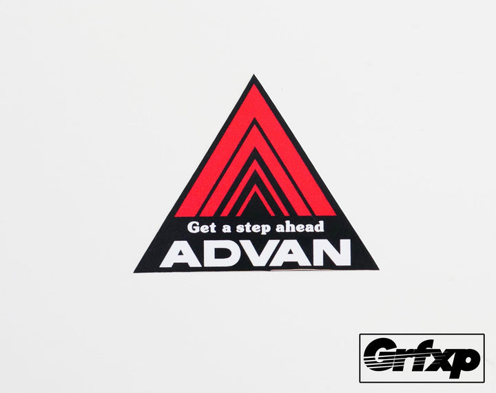Advan Triangle Printed Sticker (two pack)