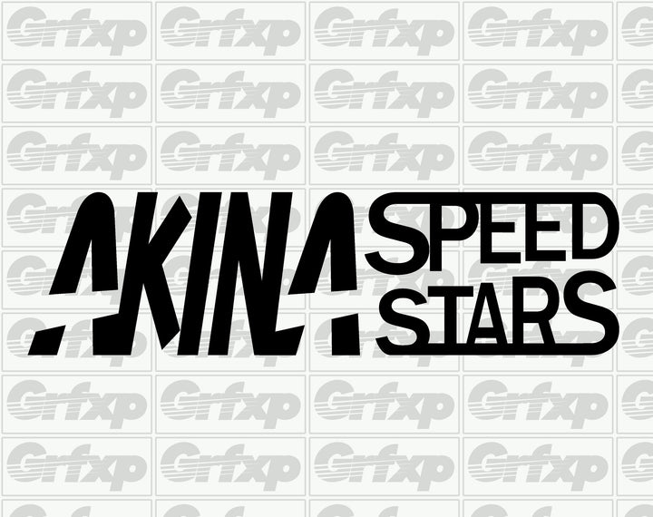 Akina Speed Stars (Initial-D) Sticker