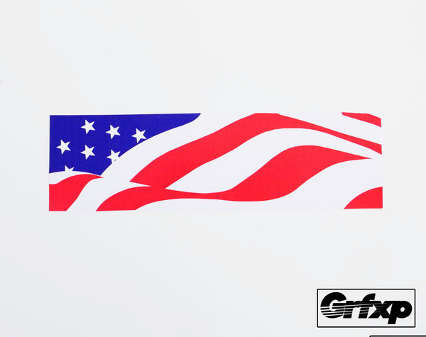 American Flag Box Logo Printed Sticker