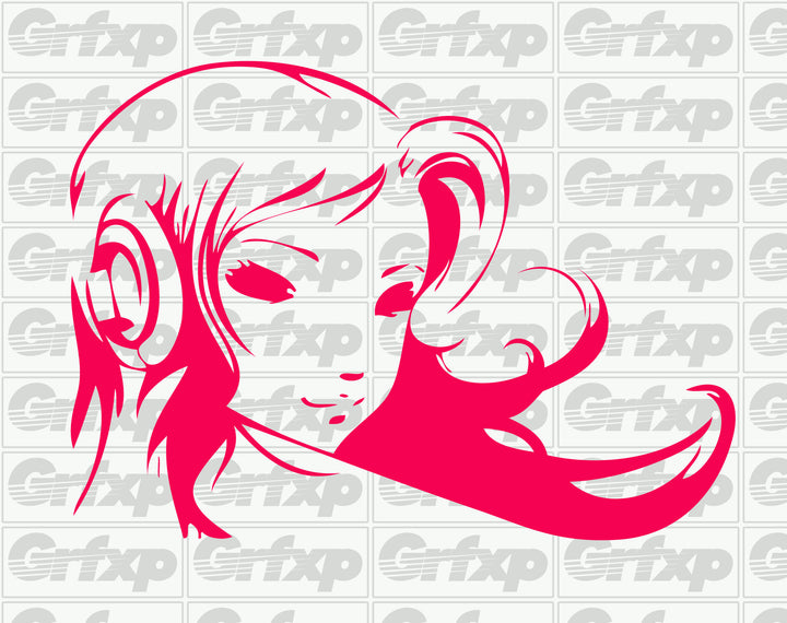 Anime Girl with Headphones Sticker