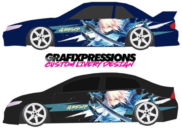 Anime Sword Scene - Custom Vehicle Livery Graphics