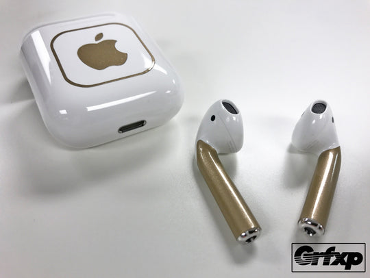 AirPods skins overlays color changing champagne gold