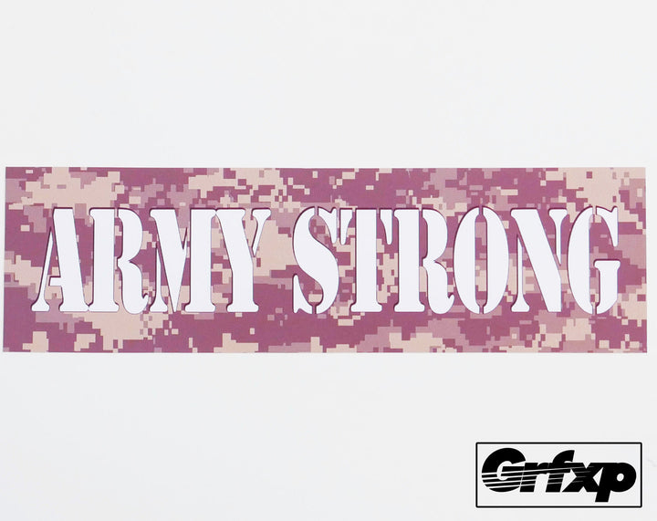 Army Strong Printed Sticker