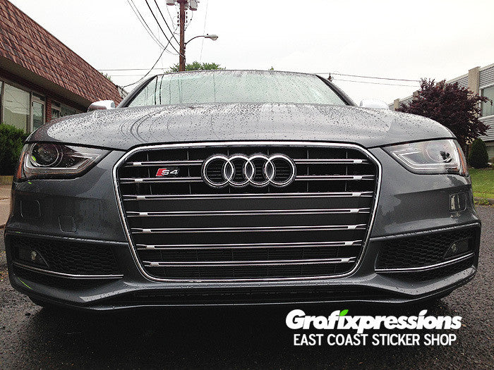 Grille Strip Overlay Kit For B8 5 Audi S4 S Line 2013 2016 Grafixpressions