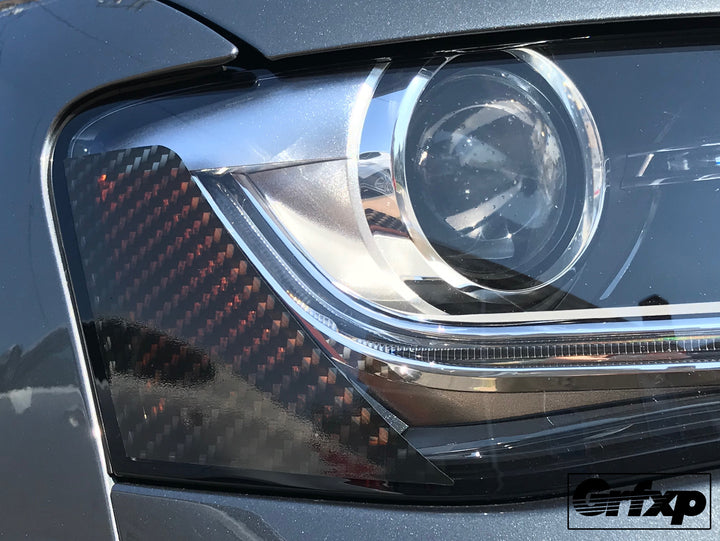 Carbon Fiber Headlight Reflector Overlays For Audi B8 5 S4 A4 S Line
