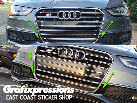 fog light extender vinyl overlays for b8 5 audi s4 s line 2013 2016 grafixpressions. Black Bedroom Furniture Sets. Home Design Ideas