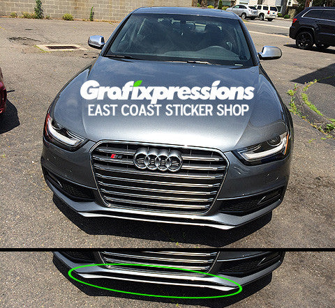 front lip overlay for b8 5 audi s4 s line 2013 2016 grafixpressions. Black Bedroom Furniture Sets. Home Design Ideas