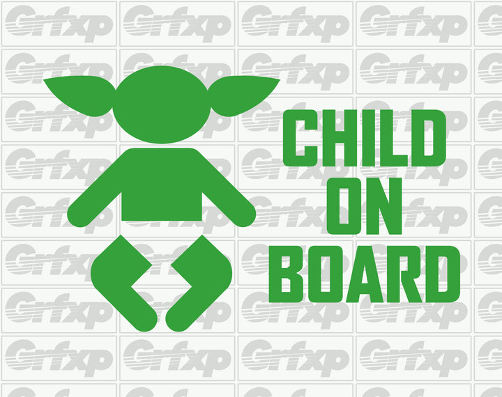 Child on Board (Baby Yoda) Sticker