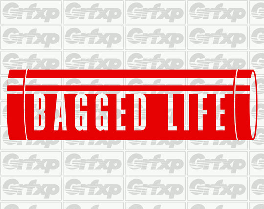 Bagged Life Tank Sticker