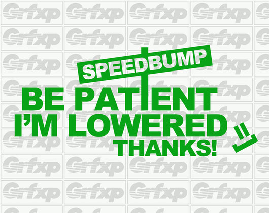 Be Patient, I'm Lowered Sticker