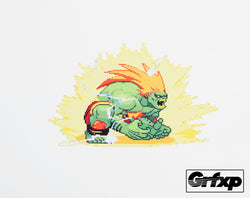 Blanka Electricity Street Fighter Series Printed Sticker