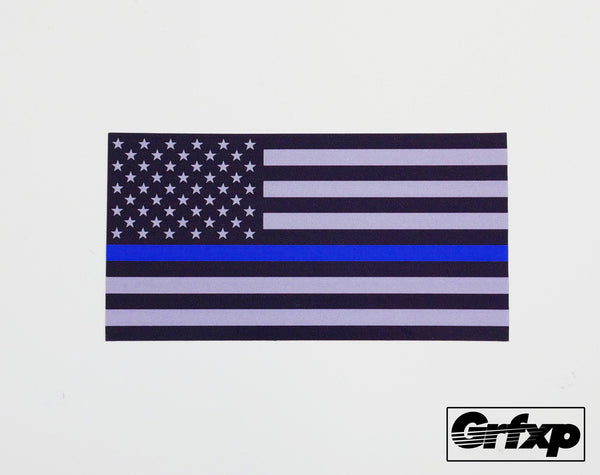 Blue Lives Matter American Flag Printed Sticker