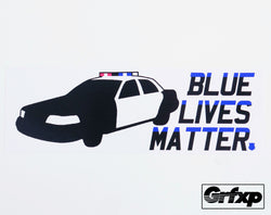 Blue Lives Matter Printed Bumper Sticker