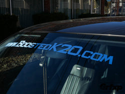 BoostedK20.com Windshield Banner