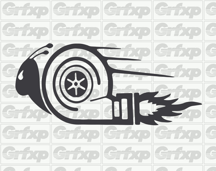 Turbo snail on fire Sticker