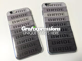 BRIDE Gradient iPhone Skin with Crystal Clear Case (for most models)