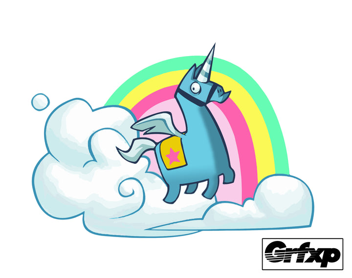 Brite Unicorn Fortnite Printed Sticker