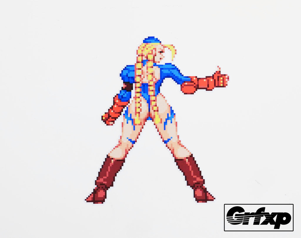 Cami win pose street fighter series printed sticker grafixpressions