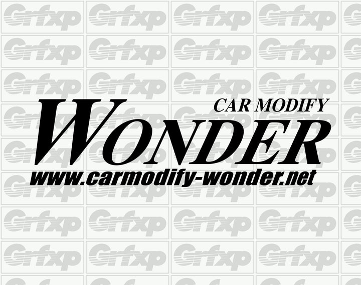 Car Modify WONDER Logo  Sticker