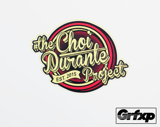 The Choi Durante Project Printed Sticker