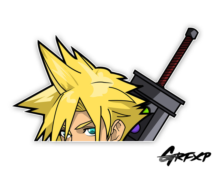 Cloud Strife Peeker Printed Sticker