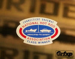 CT Dragway Class Winner Vintage Reproduction Printed Sticker