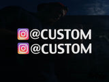 Custom Instagram User Name Sticker (Two Pack)