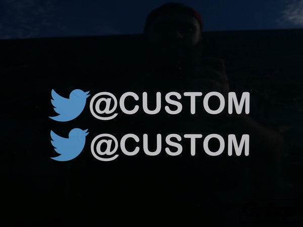 Custom Twitter User Name Sticker (Two Pack)