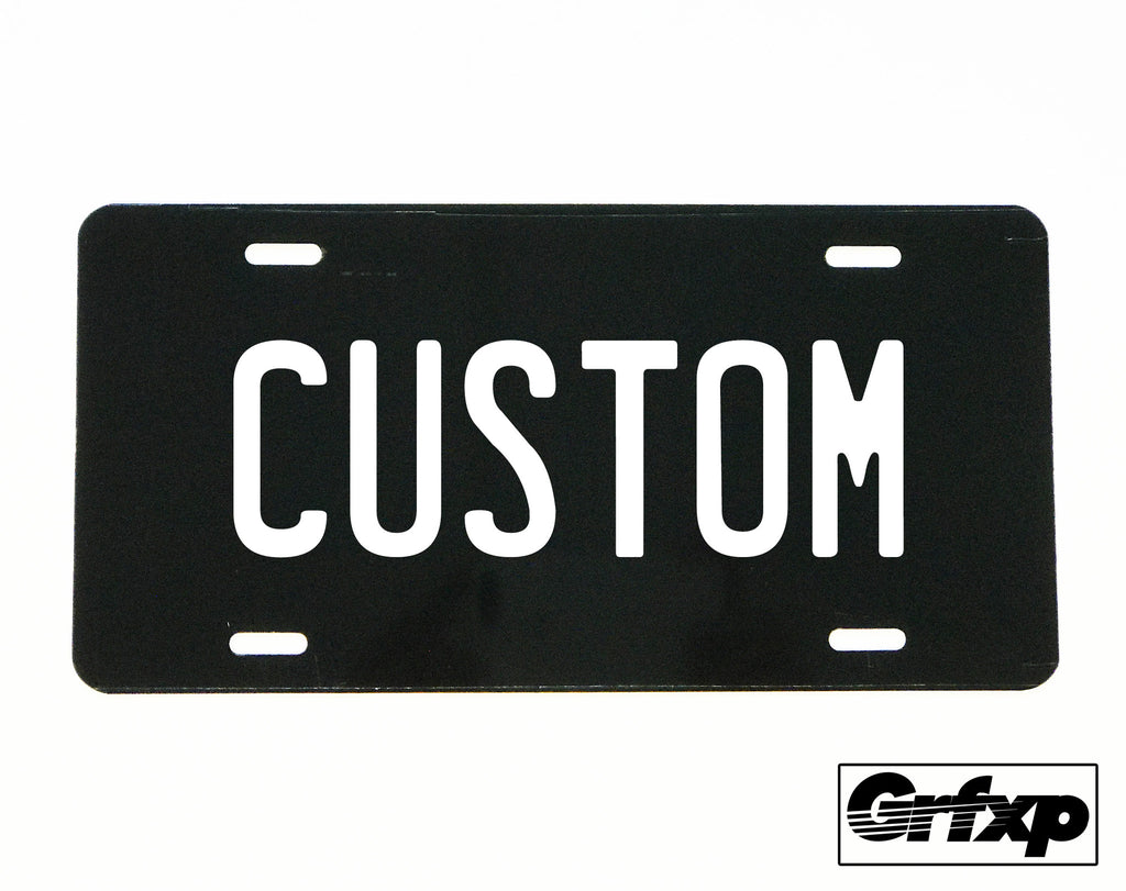 create your own custom license plate grafixpressions