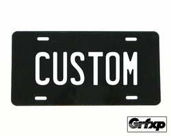 Create Your Own Custom License Plate