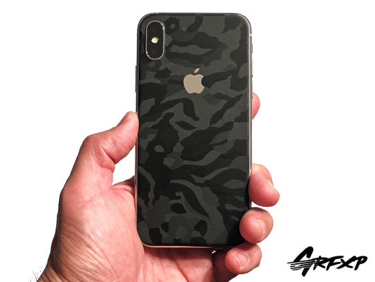 iPhone X Shadow Black Camo Colorlay Skins