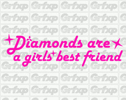Diamonds are a girls best friend Sticker