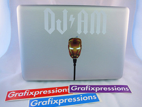 DJ/AM IronMan Macbook Sticker Kit