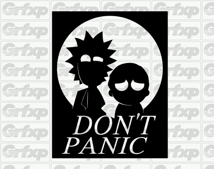 Don't Panic (Rick & Morty) Sticker