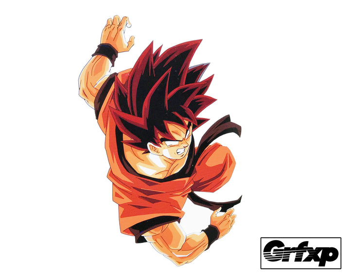 Kaio-Ken Goku Printed Sticker