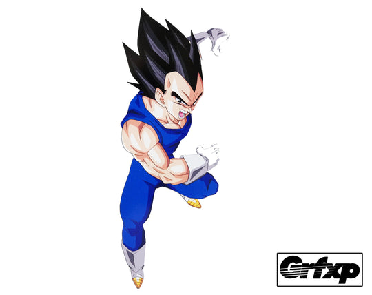 Vegeta Printed Sticker