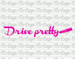 Drive Pretty (Lipstick) Sticker