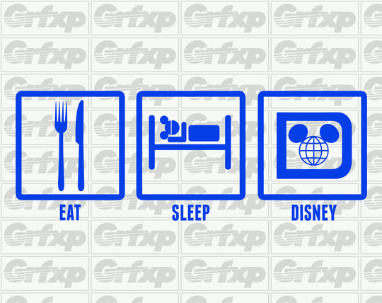 Eat, Sleep, Disney Sticker